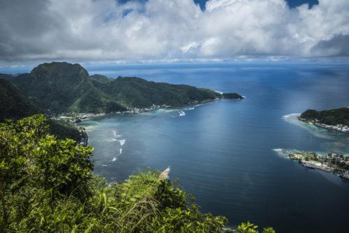 Pago Pago, the capital of the territory of American Samoa.