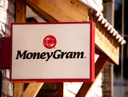 An image of the exterior of a MoneyGram branch.