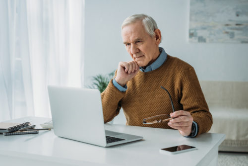 A retired man researching the Minnesota retirement system.