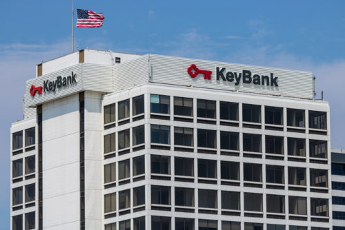 An image of the exterior of a KeyBank.