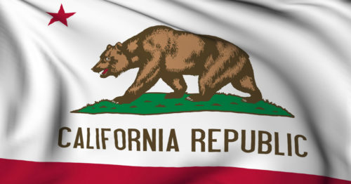 An image of the California state flag.