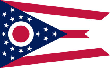 An image of the Ohio state flag.