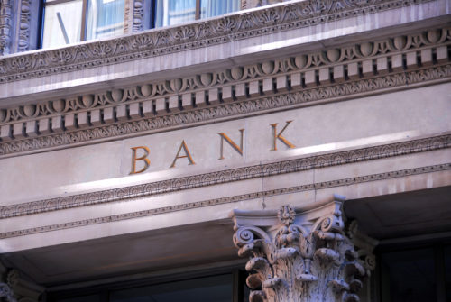 An image of the exterior of a bank.